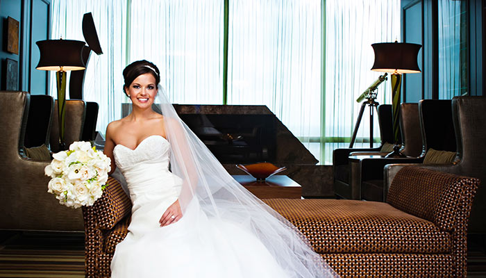 A bride at the Petroleum Club of Fort Worth. Lightly Photography 2012